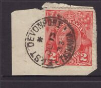 Tasmania EAST DEVONPORT type 1b postmark on 1933 KGV piece