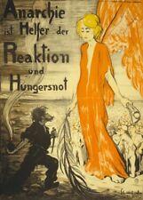 L'anarchie est l'aide de réponse de la famine. Allemand WW1 Propagande Poster