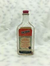Vintage Zemo Skin Medication Glass Bottle USA ROSE Co Cleveland Ohio Adveristing