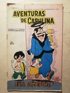 Vintage AVENTURAS DE CAPULINA #872 mexican comic From 70's