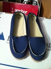 Womens Size 7 Navy Blue Fashion Slip Ons