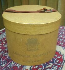 VINTAGE 1950s LINCOLN BENNETT LONDON FITTED BOWLER HAT BOX~PROP/DISPLAY