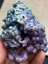 107g Natural Purple Grape Agate Chalcedony Crystal Mineral Specimen healing