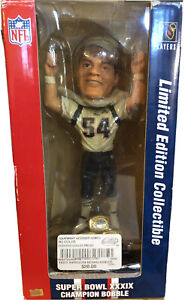Nfl Teddy Bruschi#54 Bobblehead SuperBowl champion39 Limited Edition Collectible