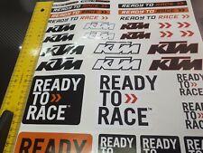 Aufkleber A3 Sticker Bogen KTM Racing Tuning Sticker  Motorcross Motorradsport