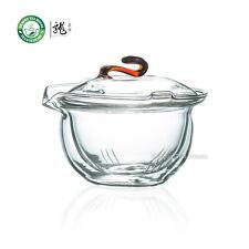 Clear Glass Chinese Gongfu Tea Gaiwan w/t Infuser 190ml 6.42 oz