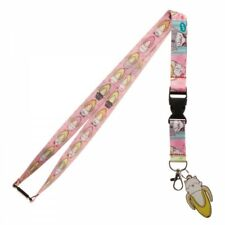 Bananya Cat Anime Lanyard with ID Holder & Charm New