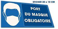 Stickers autocollant port du masque obligatoire