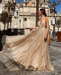 Women Formal Prom Ball Gown Evening Party Cocktail Wedding Bridesmaid Long Dress