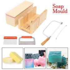 9pcs Adjustable Soap Making Kit Loaf Mould Wooden Soap Candles Cutter Slicer