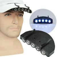 Bright 5 LED Under the Brim Cap/ Hat Light Head Light CTE