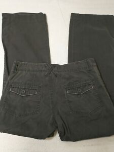 Old Navy Women's Pants Size 4 Regular Gray Cargo Chinos Mid Rise Cotton 31X29