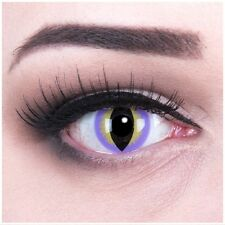 Coloured Contact Lenses black yellow Purple Dragon Contacts Color Carnival