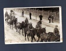 Vintage 1930's GERMAN ARMY SOLDIERS REAL PHOTO POSTCARD HORSE MEN BIKE RIFLE GUN