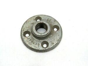 Brida de piso 10 piezas Nimoa Brida de piso de hierro maleable negro BSP Tubo de montaje roscado Brida de pared antigua DN15 1//2/'/'