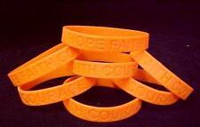 Leukemia Support Orange Silicone Bracelets Lot of 12 Cancer Awareness IMPERFECT