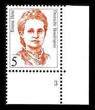 BUND Frauen    5 Pf** postfrisch, Mi. 1405, Eckrand u.r. Formnummer 3
