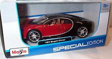 Bugatti Chiron Red & Black Diecast 1-24 scale New in box