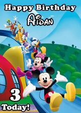 Mickey Mouse Clubhouse Personalised Birthday Card Add your own name & age