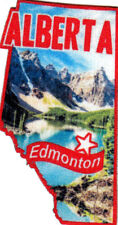 """EDMONTON ALBERTA"" Iron On Printed Patch Capital City Canada Canadian"