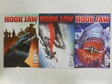 3X GREAT WHITE SHARK ATTACK Comic HOOK JAW # 1 Variant A B C ~ Titan ~  JAWS