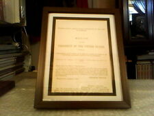 MESSAGE FROM THE PRESIDENT ABRAHAM LINCOLN ORIGINAL DOCUMENT - JANUARY 9, 1863