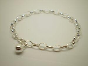 "925 Sterling Silver 6mm x 18.75cm (7.5"") Cable Bracelet A-.45B"