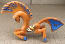 Vintage Nosco Don Manning Art Deco Horse Figurine Usa Orange Bakelite Design