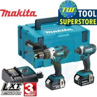 Makita 18V LXT Heavy Duty Combi Drill & Impact Driver Twin Pack 2x 5Ah, Charger