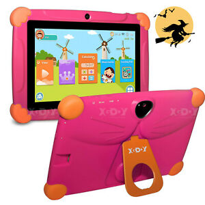 Android Tablet 7 Inch 16GB HD Quad Core Dual Camera Bluetooth WiFi Kids Tablets