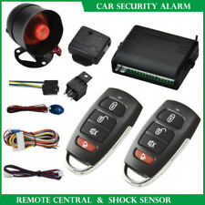 Car Security System Alarm Immobiliser Central Locking + Shock Sensor+2 Remote