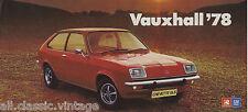 VAUXHALL - Chevette/Cavalier leaflet brochure/prospekt/folder Dutch 1978