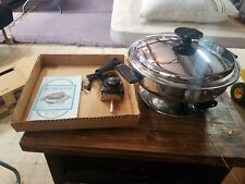 "Amway model 600 TABLE CHEF""  STAINLESS STEEL ELECTRIC SKILLET"