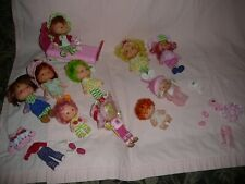 Vintage Strawberry Shortcake 10 dolls PLUS clothes and bed and CAT - Cute !