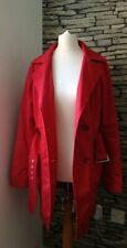 Womens Next Red Trench Coat Mac Coat Jacket UK 10