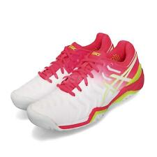 Asics Gel-Resolution 7 White Laser Pink Women Tennis Shoes Sneakers E751Y-116