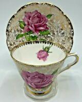 """Tudor Rose"" Collingwoods Bone China England Tea Cup and Saucer"
