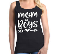 Mom of Boy Women's Tank Top Mother's Day Family Love Mom Gift Tee