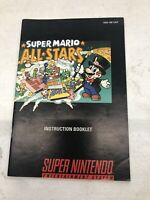 Super Mario All-Stars (Super Nintendo SNES 1993) GAME MANUAL ONLY NO CARTRIDGE