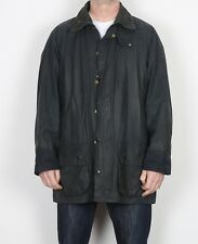 "BARBOUR Beaufort Wax Jacket Chest 46"" XL XXL Navy Blue (K1M)"