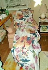 """4 Sheer Curtain Floral Panels from Blair NEW  42"""" x 86"""""""