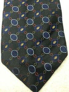XMI PLATINUM MENS TIE BLACK WITH RED GOLD BLUE 4 X 64 EXTRA LONG