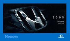 2005 Honda Element Owners Manual User Guide
