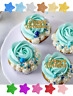 HAPPY BIRTHDAY GLITTER CUPCAKE TOPPERS PARTY ANY COLOUR CAKE TOPPER CUTE PARTY
