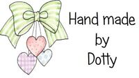 65 Personalised Mini Address labels Handmade etc  -  Green Bow with Hearts