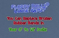 "How YOU Can Repair Re-String Your 6"" to 12"" Doll's  broken RUBBER BANDS"