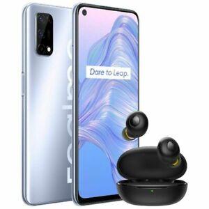 Realme 7 5G Smartphone Bundle with Wireless Buds 128GB Silver