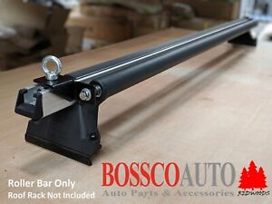 Heavy Duty Roof Rack Black Ladder Roller Bar - 1260mm