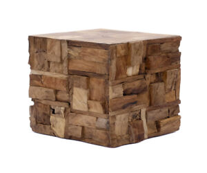 Side Table Coffee Table Wood Square Modern Solid Braun Stool Balcony Quality