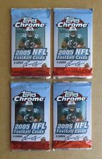 LOT OF 4 UNOPENED 2005 TOPPS CHROME FOOTBALL 4-CARD PACKS AARON RODGERS GORE